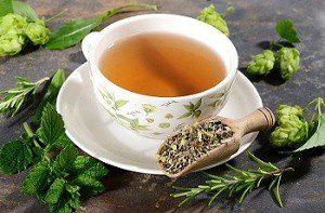 Чай с мелиссой от сухого кашля