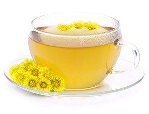 Травяной чай с мать-и-мачехой