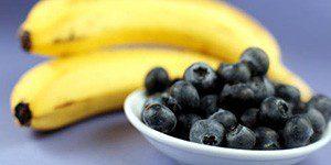 Черника и бананы